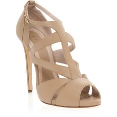 ELIE SAAB Strappy Mid Heel Sandal (7.343.275 VND) ❤ liked on Polyvore featuring shoes, sandals, heels, sapatos, zapatos, strappy sandals, strap sandals, heeled sandals, elie saab shoes and elie saab