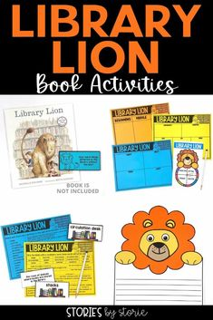 These printable and digital Library Lion activities are perfect for the classroom or home. This book is a great way to start conversations about library rules and caring for books.