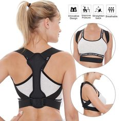 Back Posture Corrector Women Men Prevent Slouching Relieve Pain Posture Straps, Clavicle Support Brace Drop Shipping – Beauty & Health Posture Support Brace, Back Brace For Posture, Best Back Brace, Upper Back Brace, Improve Posture, Good Posture, Cinta Postural, Posture Strap, Shoulder Support Brace