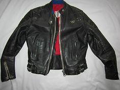 Vintage Lewis Leathers Super Phantom black leather motorcycle jacket Aviakit   eBay
