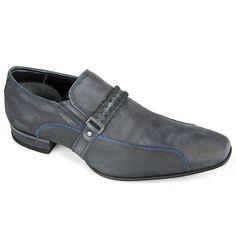 Sapato Galax 3510N Tipo: Monk Strap Cor: Atlantic Marinho Escuro Estilo: Social Marca: Ferracini