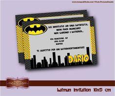 Batman Invitaciones 10x15cm por Tempodifesta en Etsy, €5.00