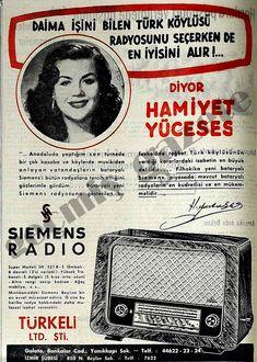 1952 İşini bilen Türk köylüsü radyosunu seçerken de en iyisini alır! diyor Hamiyet Yüceses
