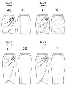 pattern flat line drawing www.sewingavenue.com