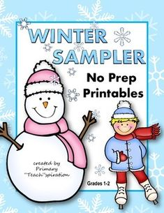 FREE Winter NO PREP Printables: These FREE Winter Math and Literacy Printables are samples from my January NO PREP Printables packet.  The pages included, however, may be considered bonus pages, as they have been changed to not be exactly like the ones in the January set.