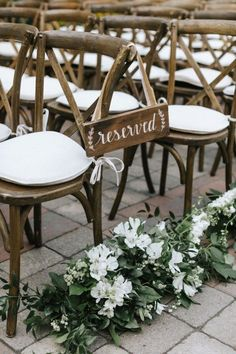 Wedding Reception at Willowdale Estate Wedding Reception Chairs, Mr Mrs Sign, Rustic Cross, Greenery Garland, Garland Wedding, Flower Bouquet Wedding, Event Venues, White Flowers, Rustic Decor