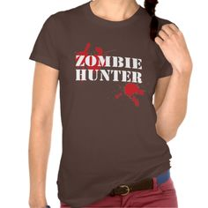 Girls Zombie Hunter T-shirt - Make Romero Proud