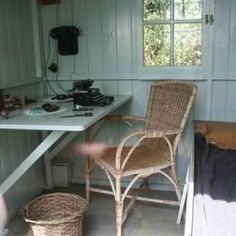 George Bernard Shaw's Writing Hut - on a rotating platform so you can move the entire shed around to get the best light at different times throughout the day.