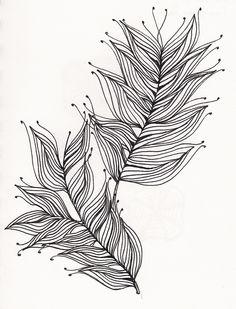 #66 Zentangle - Featherfall