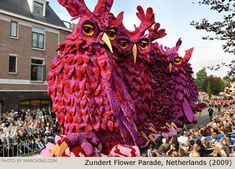 The Zundert Flower Parade has been turning this town in the Netherlands upside down since 1936. The flower parade uses only dahlias. After a whole year of work and preparations, the parade is celebrated on the first Sunday of September. The colorful creations of the Zundert Flower Parade attract tens of thousands of visitors every year. Everything is done by volunteers, even the cultivation of the dahlias. In order to prepare the floats for the big parade, hundreds of people join together.