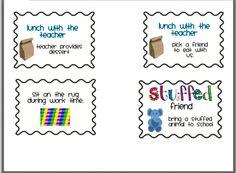 Freebie * Classroom coupons/rewards * |