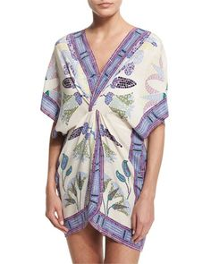 Mosaic+Tunic+Coverup+W/Twist+Waist,+Provence+Pompeii+at+CUSP.