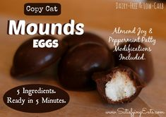 Copy Cat Mounds Eggs / #lowcarb shared on https://facebook.com/lowcarbzen