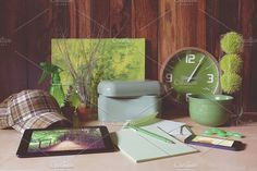 Green color palette by EnjoyLife on @creativemarket
