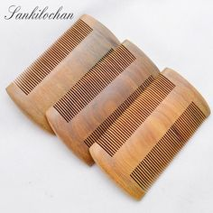 Brazil Natural Green sandalwood Wooden Comb for hair Massage No-static Hair Brush Wood Combs beard hairbrush massager lice comb