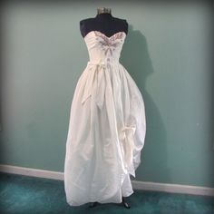 Vintage 80s Womens White  Prom Dress with Beaded by offbeatvintage, $69.00