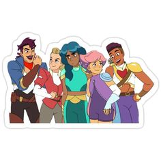 She-Ra - Best Friend Gang (She-Ra and the Princesses of Power) Sticker Dr World, 3d Templates, She Ra Princess Of Power, Cartoon Shows, Aesthetic Stickers, Laptop Stickers, Beautiful Children, Vinyl Decals, Baby Animals