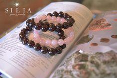 Garnet and Rose Quartz beaded bracelets Gems Jewelry, Beaded Jewelry, Beaded Bracelets, Gem S, Crystal Healing, Gemstone Beads, Rose Quartz, Garnet, Gemstones