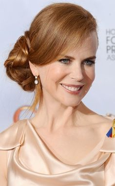 Nicole Kidman Wearing Updo Hairstyle With Curls At The Premiere Of By