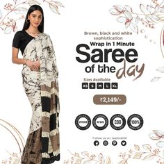 No hassle of pleats, petticoat, pico and fall. Everything is stitched and taken care of. Just wrap like a skirt and you are ready. Crepe Saree, Plain Saree, Saree Border, Work Sarees, Border Print, Nude Color, Printed Sarees, Cotton Silk, Blue Fabric
