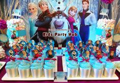 frozen party theme | Typically, the colors would be blue, light blue and white, but I added ...
