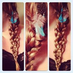 Braids and Feathers <3