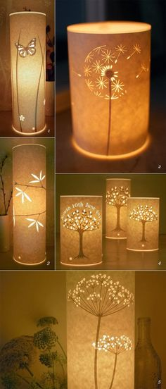 Beautiful Paper Lamps  ...oooh, ever loving these!