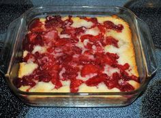 strawberry cobbler with bisquick | This dessert was gone in no time and so were the rest of the ...