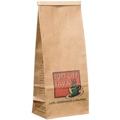 1 lb. Brown Kraft Customizable Paper Coffee Bag with Reclosable Tin Tie - 100/Pack