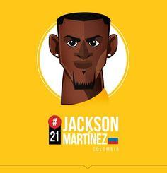 Edgar Rozo on Behance Jackson Martinez, Free Kick, Football Art, World Cup 2014, Sports Art, Football Players, Art World, Caricature, Pop Art