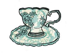 Me Old China scalloped tea cup and saucer.