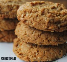 Dairy Free and Egg Free Oatmeal Cookies