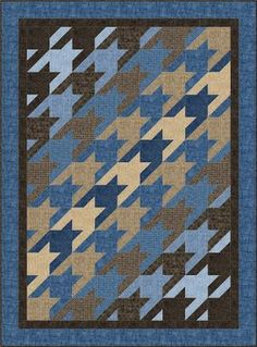Hounds-tooth Made Easy quilt pattern baby/ lap by fabricaddictshop
