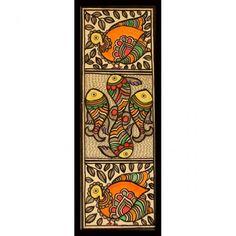 madhubani cushion covers - Google Search Madhubani Art, Madhubani Painting, Phad Painting, Kunst Der Aborigines, Kalamkari Painting, Indian Paintings, Art Paintings, Canvas Art Projects, Ganesha Painting