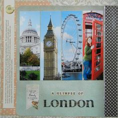 A Glimpse of London - Scrapbook.com