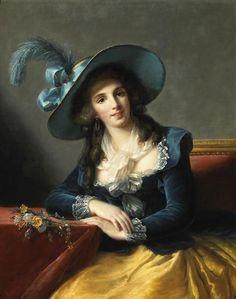 Portrait of Antoinette-Elisabeth-Marie d'Aguesseau, comtesse de Ségur (1785) Vigee Lebrun: