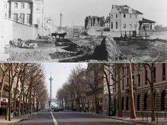 L'ouverture du boulevard Henri-IV. Une idée de génie d'Haussmann, qui avait compris la belle perspective qu'il pouvait tracer entre la colonne de la Bastille et le dôme du  Panthéon. Il dut vaincre le scepticisme de Napoléon III, qui goûtait peu la ligne droite.