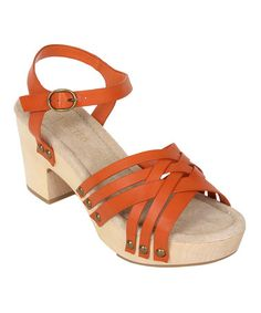 Look what I found on #zulily! Orange Cate Sandal by Restricted #zulilyfinds