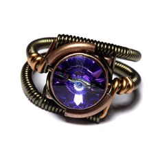 Steampunk Jewelry  RING  Heliotrope Purple by CatherinetteRings, $45.00