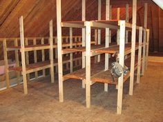 Attic Shelving | The large attic is perfect for storage of a… | Flickr