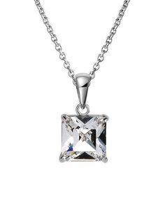 Take a look at this Square Pendant Necklace Made With SWAROVSKI ELEMENTS by MESTIGE on #zulily today!