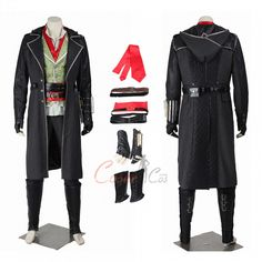 Buy great D-C and Mar-vel costumes for Halloween. Online Sales, Game Costumes, Halloween Costumes, Mephisto, Cosplay Dress, Womens Size Chart, Assassin's Creed, Full Set, Men's Apparel