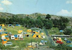 Brekkestø i Aust-Agder fylke. Skagerak Camping. Stmp.1973.