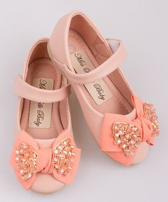 Another great find on #zulily! Pink Crystal Bow Ballet Flat by Mia Belle Baby #zulilyfinds