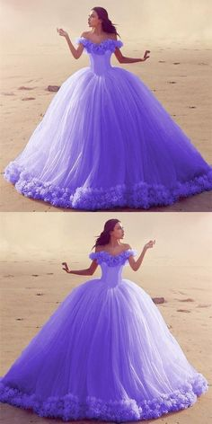 Sweet Wedding Dresses, Wedding Dresses With Flowers, Sweet 16 Dresses, Lilac Wedding, Tulle Wedding, Dress Wedding, Trendy Wedding, Pretty Quinceanera Dresses, Pretty Prom Dresses