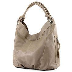 modamoda de - ital. Handtasche Damentasche Schultertasche Ledertasche Tasche Nappaleder Z18, Präzise Farbe:Beigebraun - http://herrentaschenkaufen.de/modamoda-de-made-in-italy/beigebraun-modamoda-de-ital-handtasche-tasche