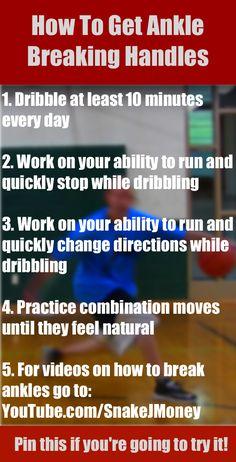 How to get ankle breaking handles!  For videos on how to break ankles go to http://youtube.com/snakejmoney   #basketball #ballislife