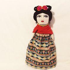 Frida Kahlo doll by alittlevintagestore on Etsy