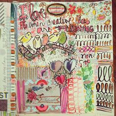 Busy brain today #artjournal ps still spaces in class next weekend, come see more and journal with me | Flickr - Photo Sharing!