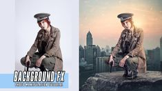 Photoshop CC: Background Effect Photo Editing Tutorial